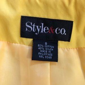 Style & Co Jackets & Coats - Style & Co.  Size Small Yellow Rain/Trench Coat
